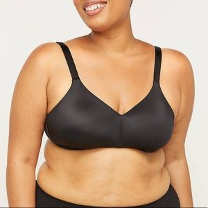 Catherines | No Wire Back Smoothing Bra 50D Black